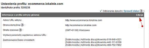 Uaktywnianie zakładki Ecommerce w Google Analytics