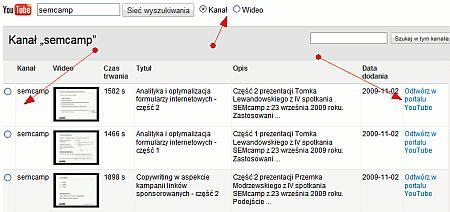 wybor kanalu Przewodnik po Promowanych filmach wideo na Youtube   praktyczne wykorzystanie
