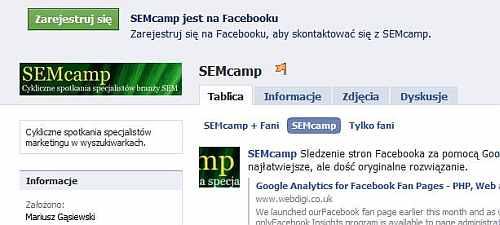 semcamp facebook I po 5 SEMcampie...