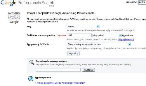 Wyszukiwarka GAP po polsku