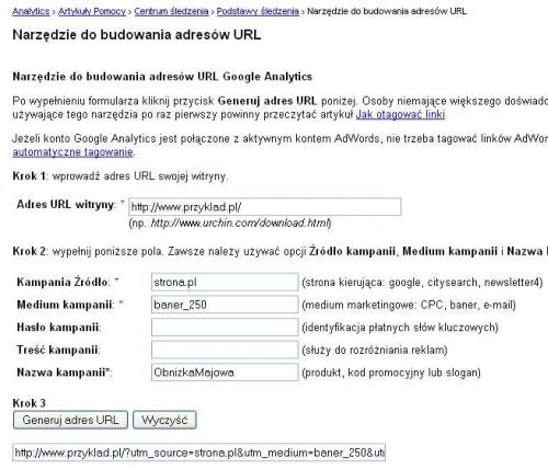 budowanie adresow 2 Jak uniknąć zduplikowanej treści śledząc kampanie reklamowe w asynchronicznym kodzie Google Analytics ?