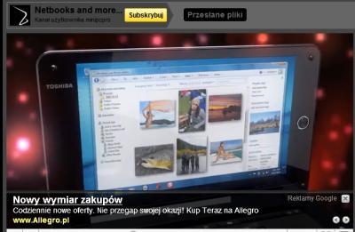 Reklama invideo w postaci tekstowej