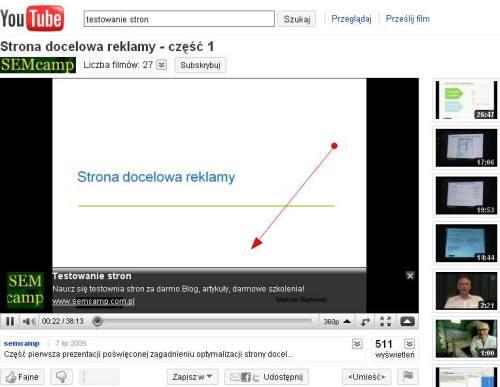 Nakładka z wezwaniem do działania na koncie Youtube