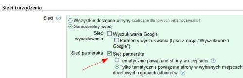 Ustawienia kampanii Google AdWords
