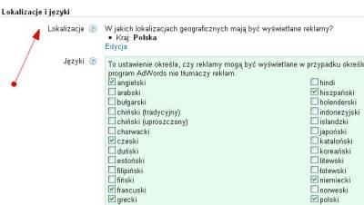 Kierowanie na języki w obrębie kampanii Google AdWords