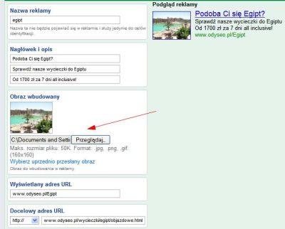 Tworzenie reklamy graficznej dla wyszukiwarki grafiki Google
