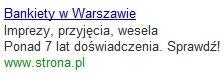Przykład kampanii Google AdWords