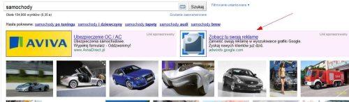 Reklama graficzna dla wyszukiwarki grafiki Google
