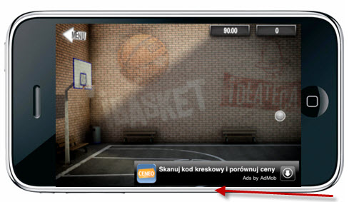 Reklamy tekstowe w sieci AdMob
