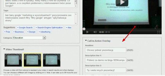 nakladka z wezwaniem do dzialania Reklamy Trueview w wynikach wyszukiwania Youtube – praktyczny przewodnik
