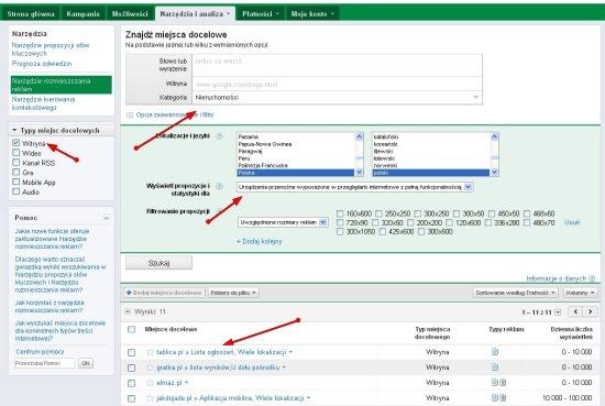 reklama na stronach 3 Jak tworzyć kampanie reklamowe w mobilnej Sieci reklamowej Google (tzw. mGDN)?