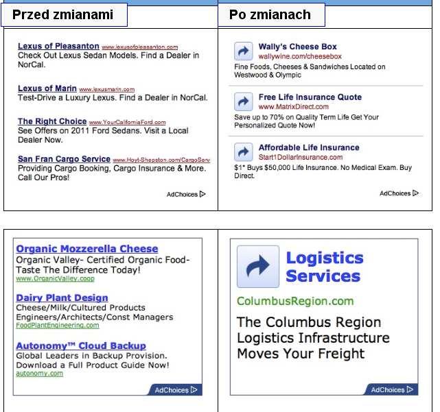 reklama zmiany 2 Jak tworzyć kampanie reklamowe w mobilnej Sieci reklamowej Google (tzw. mGDN)?