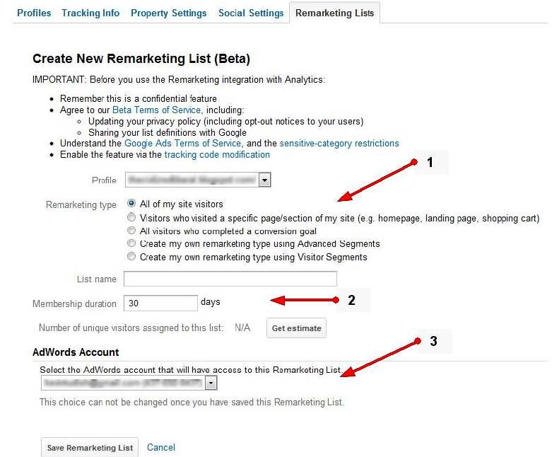 tworzenie listy remarketingowej Tworzenie list remarketingowych w Google Analytics