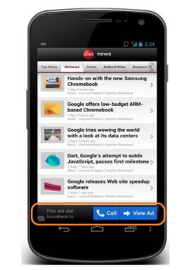reklama zadzwon Wszystko o formatach mobilnych w Sieci reklamowej Google
