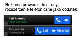 rozszerzenie telefoniczne Wszystko o formatach mobilnych w Sieci reklamowej Google