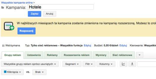 migracja kampanii krok 1 Rozszerzone kampanie w wyszukiwarce Google   o co w tym chodzi?