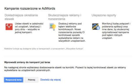 migracja kampanii krok 2 Rozszerzone kampanie w wyszukiwarce Google   o co w tym chodzi?