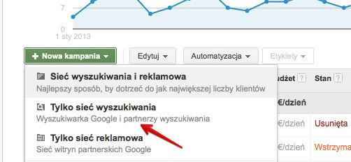 tworzenie kampanii krok 1 Rozszerzone kampanie w wyszukiwarce Google   o co w tym chodzi?