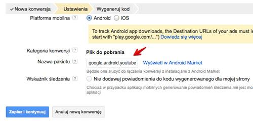 sledzenie aplikacji android url Śledzenie pobrań aplikacji w kampaniach AdWords