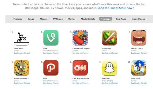 Aplikacje mobilne w iTunes