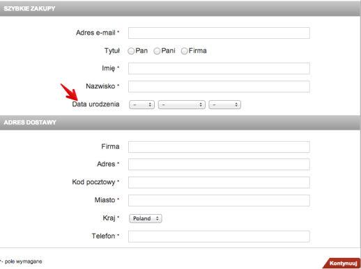 Optymalizacja formularzy internetowych - bez niepotrzebnych pól