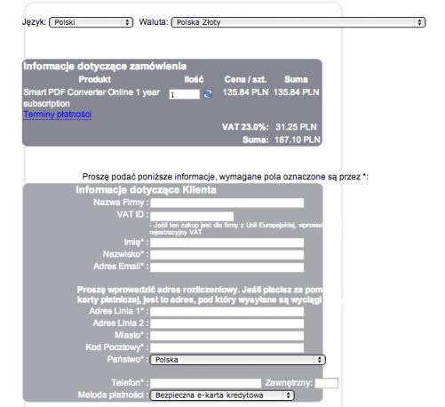 Optymalizacja formularzy internetowych - porządek i przejrzystość