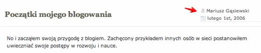 blog Mariusza