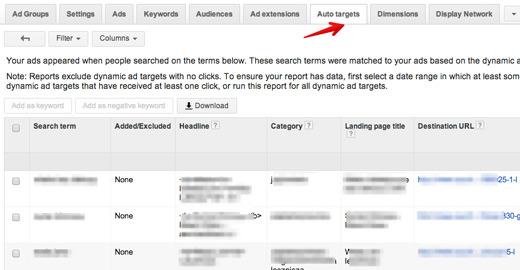dsa raporty Optymalizacja reklam dynamicznych DSA