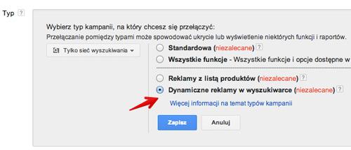 dsa ustawienia Reklamy dynamiczne w wyszukiwarce (DSA)   jak je efektywnie wykorzystywać?