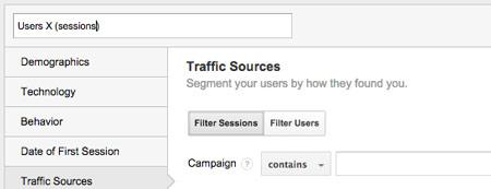 google analytics sesje Realna segmentacja z wykorzystaniem Google Analytics   segmentacja na poziomie użytkownika