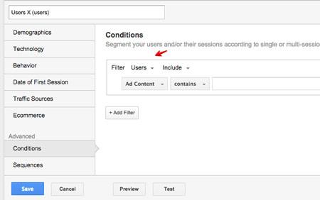 Segmentacja na podstawie użytkownika w Google Analytics