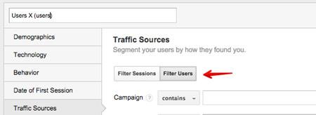 google analytics uzytkownicy Realna segmentacja z wykorzystaniem Google Analytics   segmentacja na poziomie użytkownika