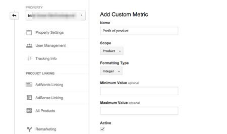 Niestandardowe metryki w Google Analytics