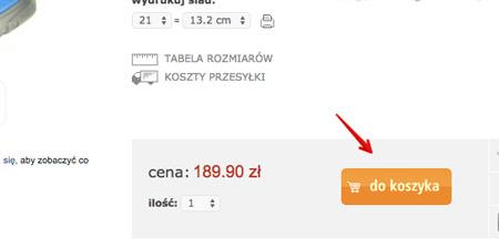 Segmentacja w Google Analytics - dodal do koszyka
