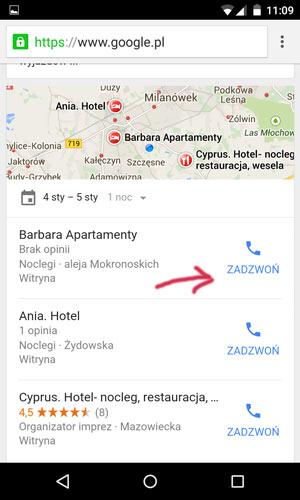 mobilne wyniki wyszukiwania 2 Kliknij, aby zadzwonić   jakie ma to znaczenie w mobilnych wynikach wyszukiwania?