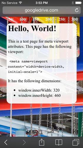 wykorzystanie viewport w stronie mobilnej