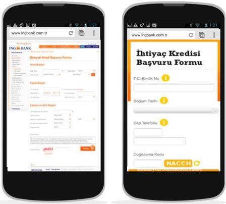 optymalizacja formularza internetowego na smartfony