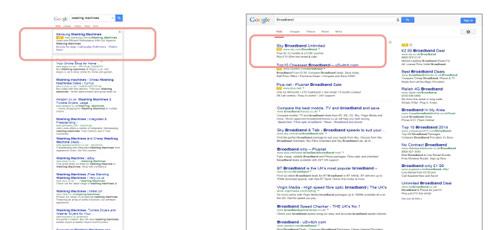 Wyniki sponsorowane w wyszukiwaniu