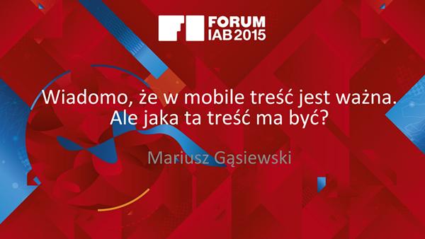 forum iab gasiewski Wystąpienia